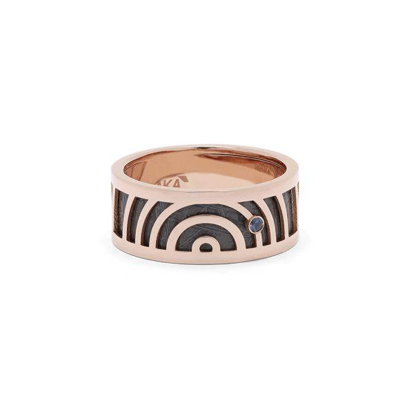 Meteorite Tematica ring Baraka Italian luxury jewellery Safijen boutique