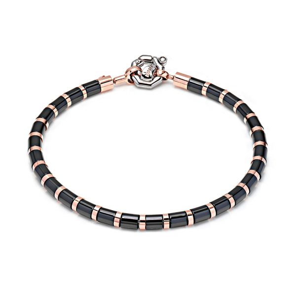 Black ceramic bracelet for men Baraka Italian luxury jewellery Snake Business Safijen Fashion
