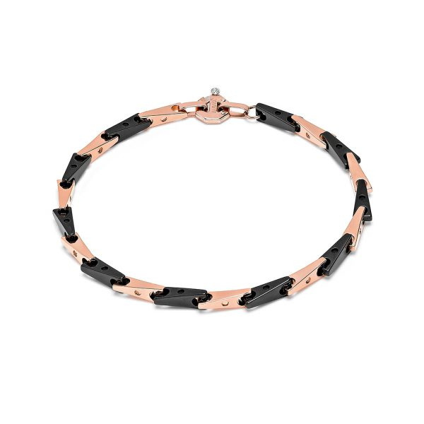 Ceramic and rose gold bracelet for man Baraka Italian luxury jewellery Safijen Fashion