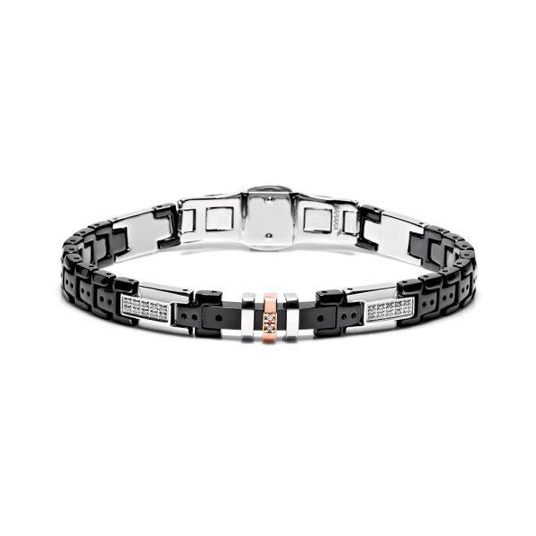 ceramic and diamonds bracelet for man Baraka Italian luxury jewellery Safijen Pfaeffikon SZ