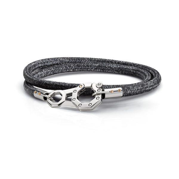 grey rope bracelet with diamonds Baraka jewellery Safijen boutique Pfaeffikon SZ