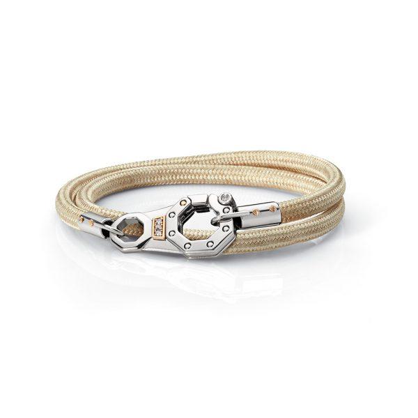 White rope bracelet with diamonds Baraka jewellery Safijen Pfaeffikon SZ