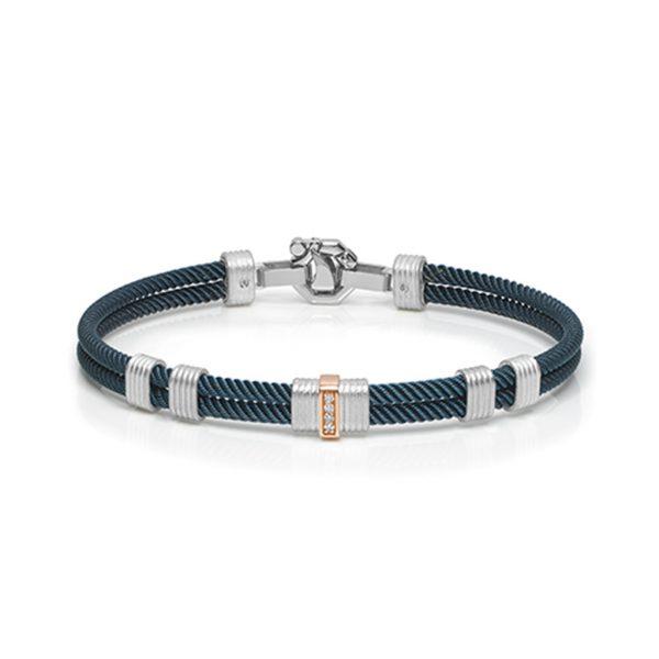 Blue bracelet with diamonds for man Baraka jewellery Safijen boutique Switzerland