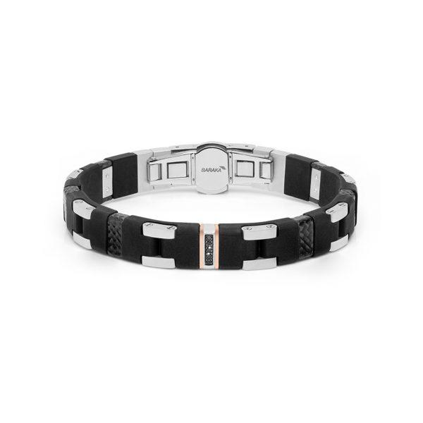 Black diamonds carbon fiber bracelet Baraka italian jewellery Safijen Pfaeffikon SZ