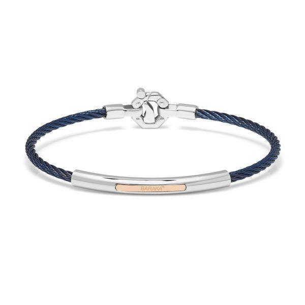 blue bracelet for man Baraka italian jewellery Official in Switzerland