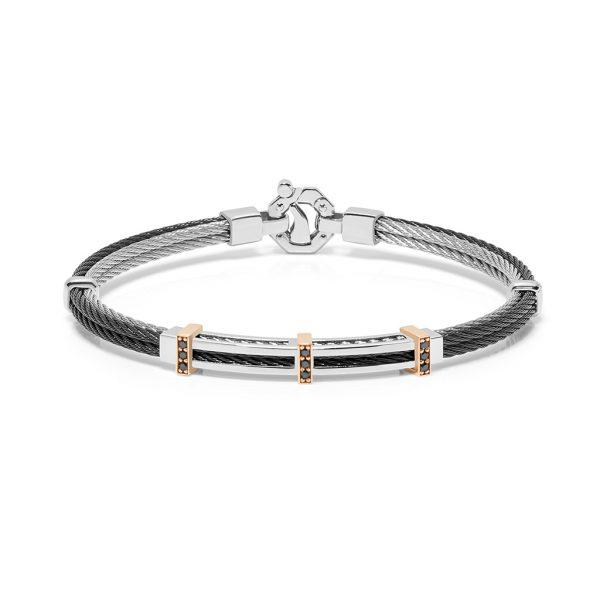 black diamonds rose gold bracelet for man Baraka Safijen