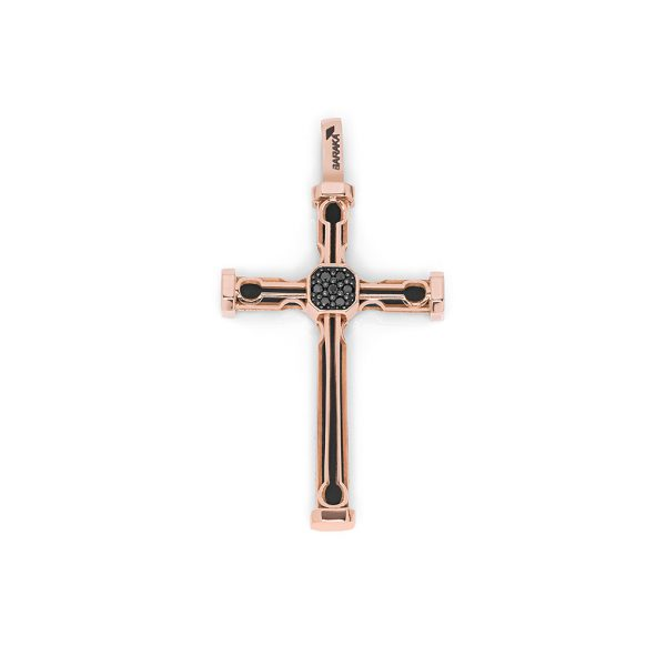 rose gold black diamonds cross pendand Baraka for man Safijen boutique Pfaeffikon SZ