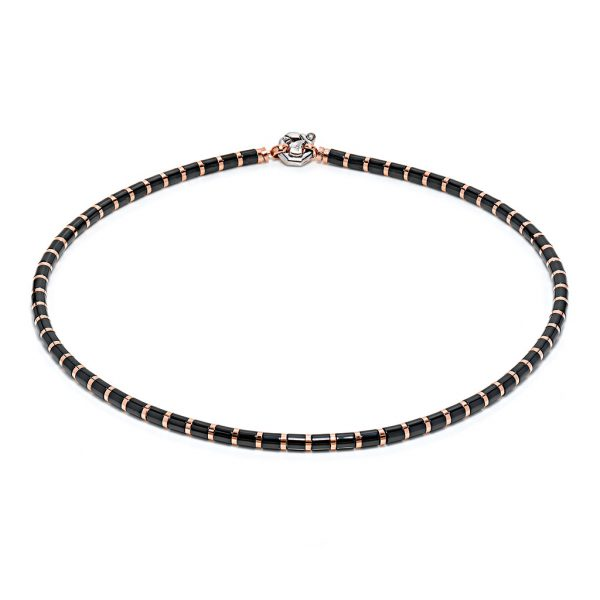 snake necklace for man black ceramic rose gold Baraka Safijen boutique Pfaeffikon SZ